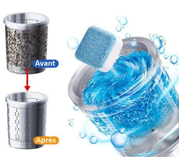 tablette1 Tablettes Effervescentes - Nettoyage En Profondeur De Votre Machine À Laver   Lave-Linge