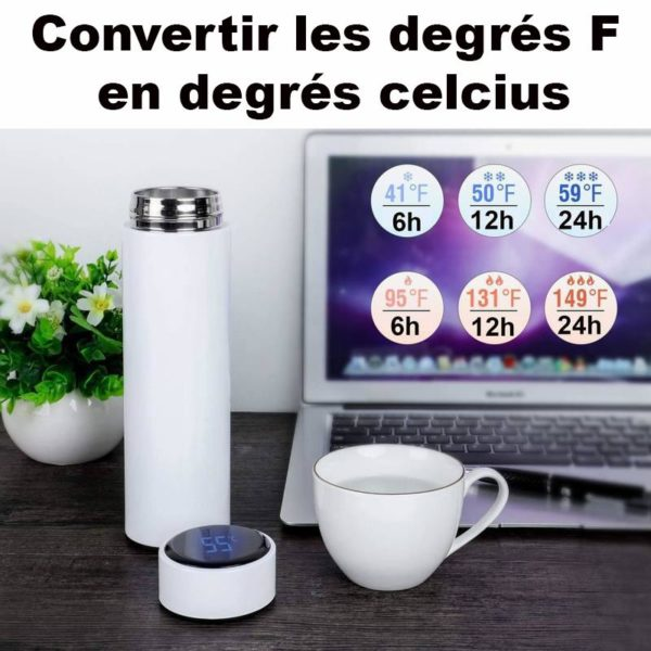 thermos2 Bouteille Thermo Isotherme Avec Affichage De Température