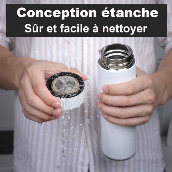 thermos3 Bouteille Thermo Isotherme Avec Affichage De Température