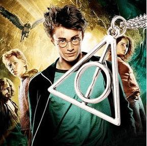 """triangle1 Collier Pendentif Harry Potter """"Reliques De La Mort"""""""