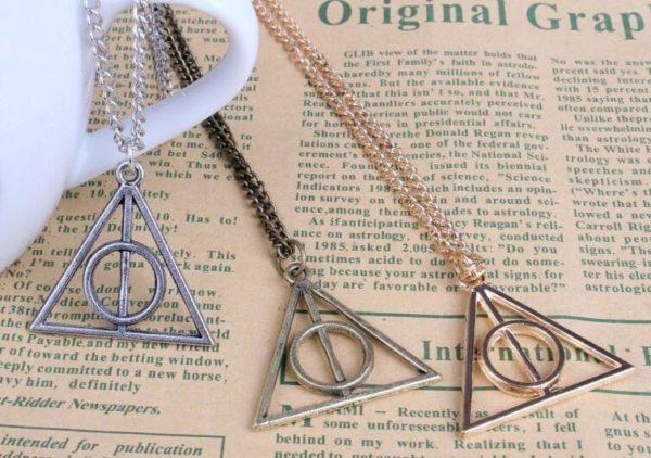 """triangle3 Collier Pendentif Harry Potter """"Reliques De La Mort"""""""