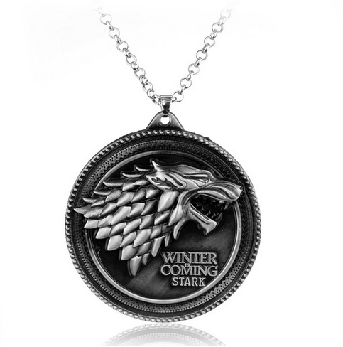 winter coming 62407cf6 63cf 493b 82e4 f0a6c61148b8 Collier Pendentif Game Of Thrones - Maison Stark - Winter Is Coming