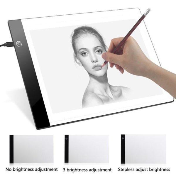 0 HTB1BGQGqoR1BeNjy0Fmq6z0wVXar LED Light Pad : Tablette de Traçage Parfaite et Pratique LED/ Gradation à trois niveaux