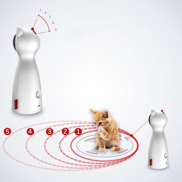 1 Chat interactif jouet LED Laser dr le jouet Auto rotation chat exercice formation divertissant jouet multi Jouet Laser Interactif Pour Chat: Allumez-Le Et Regardez Votre Chat Aller À La Chasse Au Rayon Laser