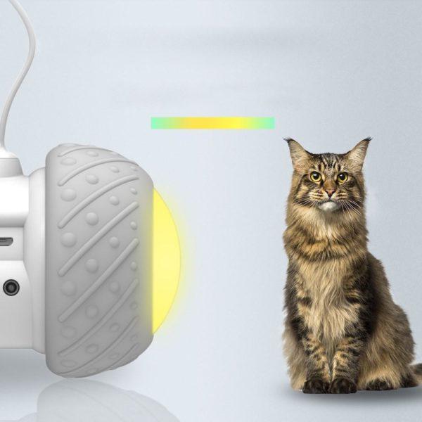 1 Jouet chat intelligent interactif Mode de rotation lrr gulier jouet chat amusant jouet lectronique chat jouet Jouet Intelligent Pour Chat: Éliminer Les Sentiments De Tristesse Et D'ennui De Votre Chat