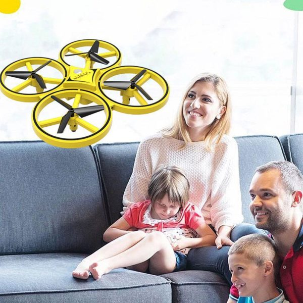 Drone De Contrôle Des Gesture Par Gravité : Contrôlable Avec La Main - Jaune