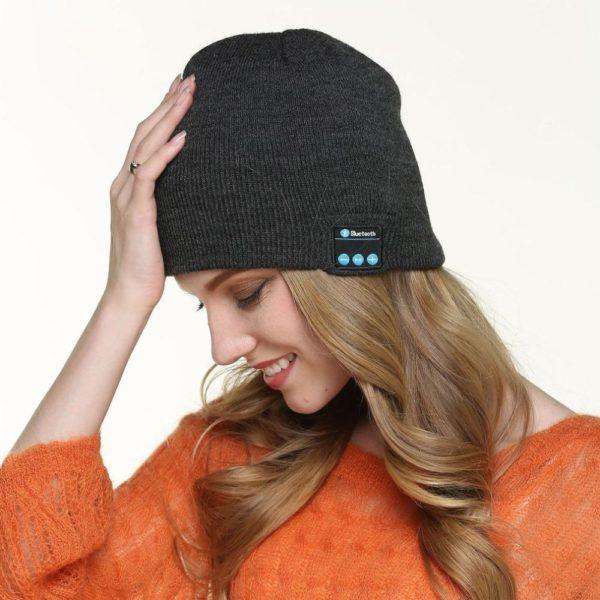 Bonnet D'hiver : Avec Haut-parleur Sans Fil Bluetooth - GRIS FONCE