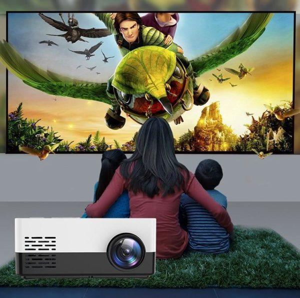 12 H8c9b2ccf11e44a15a6befbe90467a346B Mini Vidéoprojecteur LCD : Portable et Compact Maison Cinéma