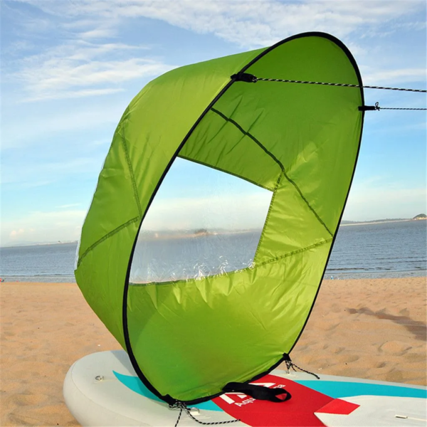 Mini Voile Portable : Que Vous Soyez Sur Un Kayak Ou Même Un Paddle - Vert