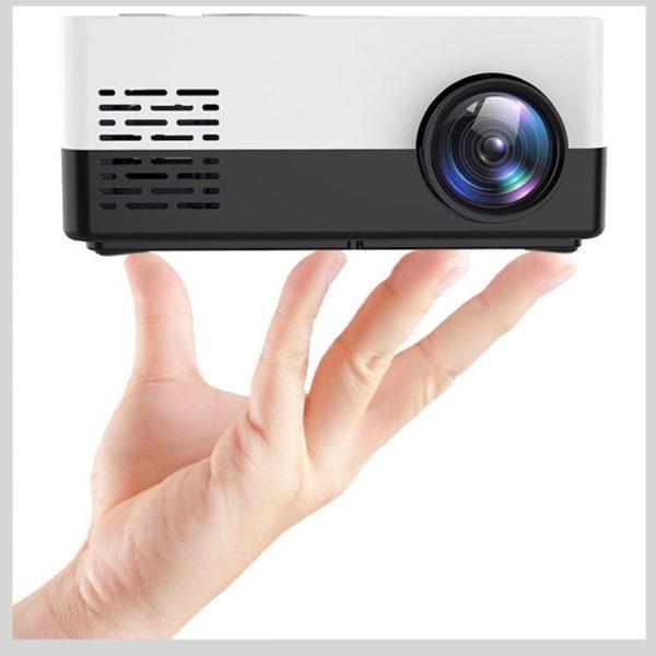 Mini Vidéoprojecteur LCD : Portable et Compact Maison Cinéma - Noir
