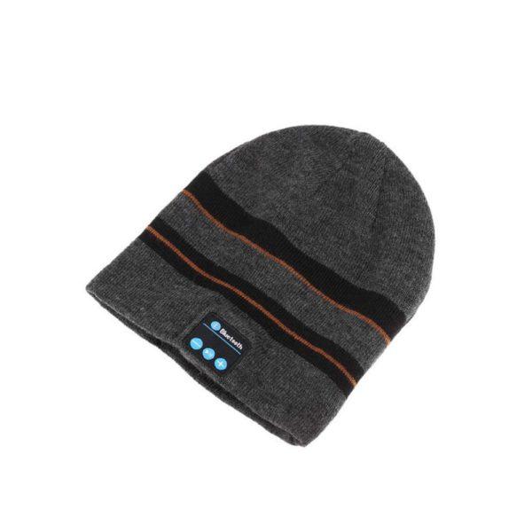 Bonnet D'hiver : Avec Haut-parleur Sans Fil Bluetooth - NOIR ET GRIS