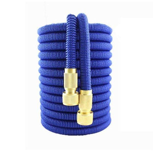 Magic Hose : Flexible et Tuyau Arrosage Extensible Avec Pistolet D'arrosage - 25ft / Bleu / Tuyau D'arrosage
