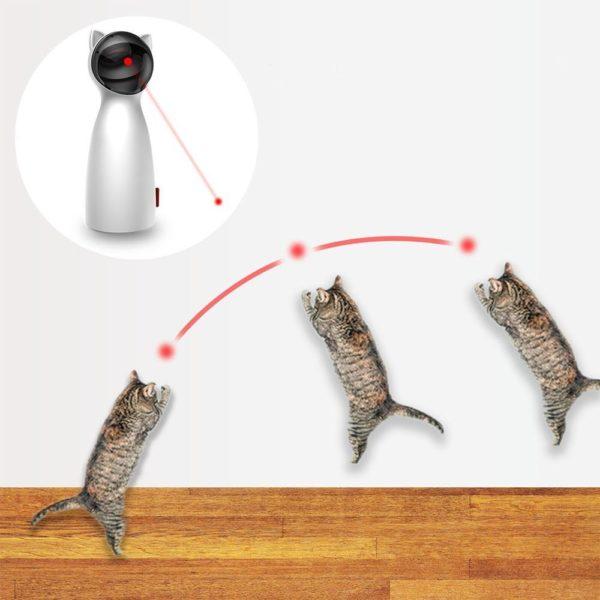 2 Chat interactif jouet LED Laser dr le jouet Auto rotation chat exercice formation divertissant jouet multi Jouet Laser Interactif Pour Chat: Allumez-Le Et Regardez Votre Chat Aller À La Chasse Au Rayon Laser