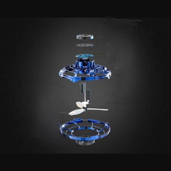 2 Flynova Mini Drone LED type ovni h licopt re volant spinner bout des doigts mise niveau Jouet De Drone Fidget Spinner Pour Enfants Et Adultes: Remède Absolu Pour L'ennui
