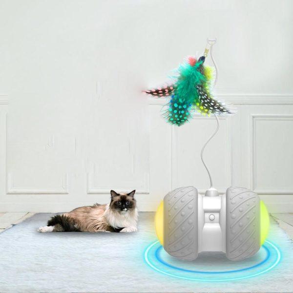 2 Jouet chat intelligent interactif Mode de rotation lrr gulier jouet chat amusant jouet lectronique chat jouet Jouet Intelligent Pour Chat: Éliminer Les Sentiments De Tristesse Et D'ennui De Votre Chat