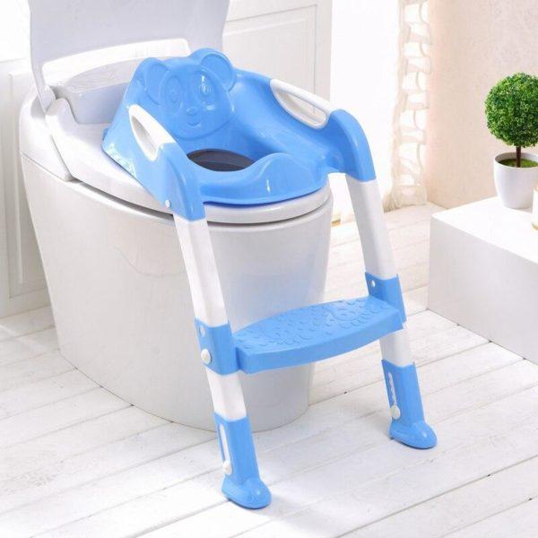 2 couleurs b b pot si ge d entra nement pot pour enfants avec chelle r Adaptateur de Toilette Pour Bébé : Cultivez Des Habitudes de Toilettes Indépendantes