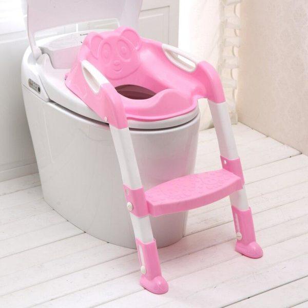 Adaptateur de Toilette Pour Bébé : Cultivez Des Habitudes de Toilettes Indépendantes - Rose