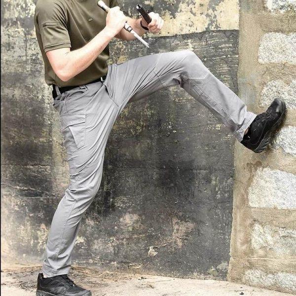 Pantalon Tactique: Pantalons De Bonne Qualité Et Imperméables Pour Usages Multiples - Gris / S(76-81 CM)