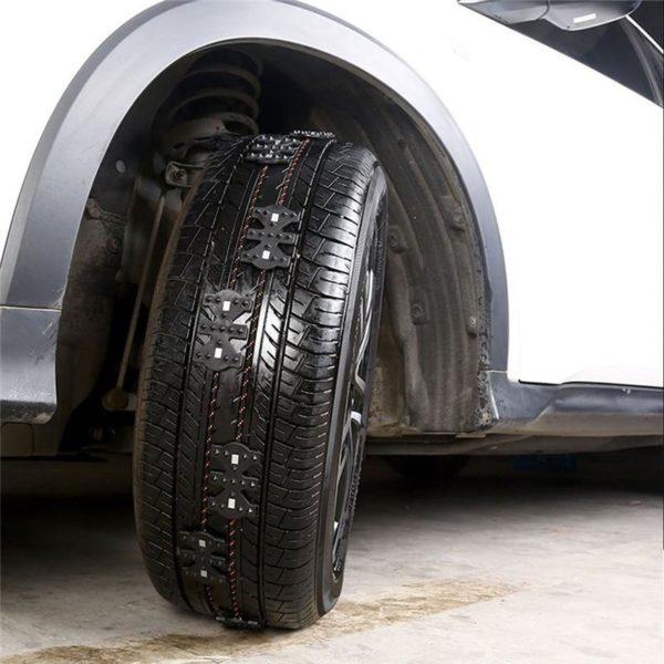 2 pi ces hiver antid rapant universel noir r sistant l usure roue pneu anti d Chaînes De Pneus de Voiture :une Attache Spéciale Dotée D'une Puissante Technologie
