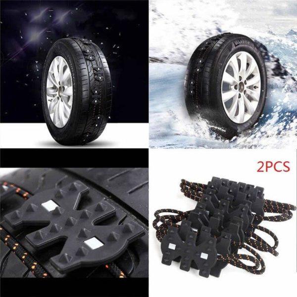 2 pi ces hiver antid rapant universel noir r sistant l usure roue pneu anti d 0c867f49 1862 4596 8e99 1d53d63a894d Chaînes De Pneus de Voiture :une Attache Spéciale Dotée D'une Puissante Technologie