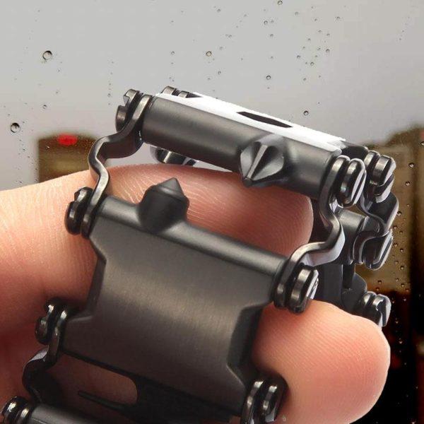 29Dans1BraceletMulti outils 1 29 Dans 1 Bracelet Multi-outils: De Tournevis Et De Clés Hexagonales Et Beaucoup D'outils Utiles Au Poignet