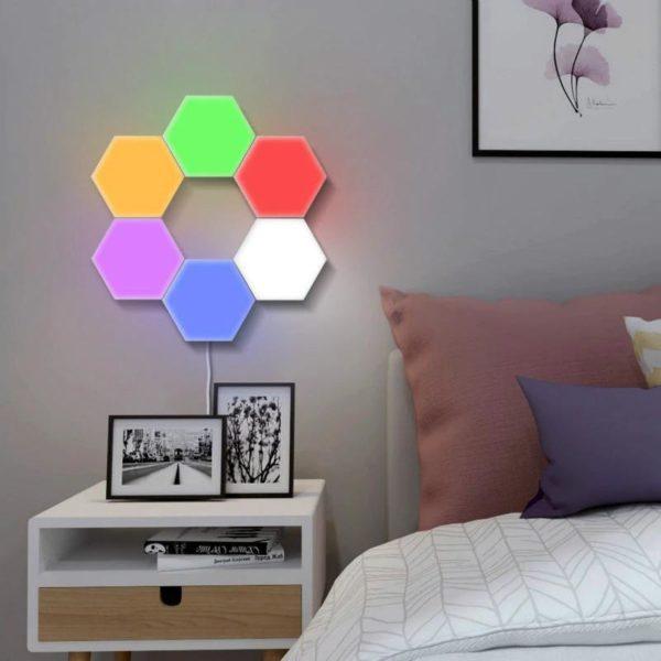 2 2 Lampe À LED Magnétique : Lumières Tactiles Modernes et Flexibles