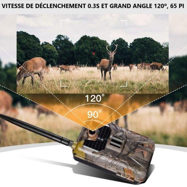 2 20MP 1080P cam ra de suivi de la faune sauvage pi ges Photo Vision nocturne 2G Camera Chasse : Obtenez Des Photos et Vidéos Directement Sur Votre Portable