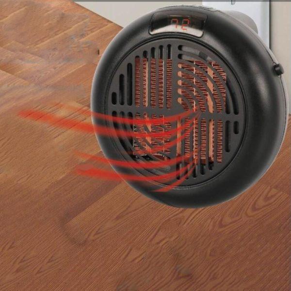 Chauffage Électrique Mur Portable : Réduire le Coût de L'électricité en Régulant sa Consommation - Noir