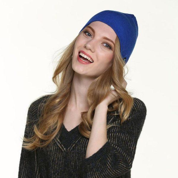 Bonnet D'hiver : Avec Haut-parleur Sans Fil Bluetooth - BLEU