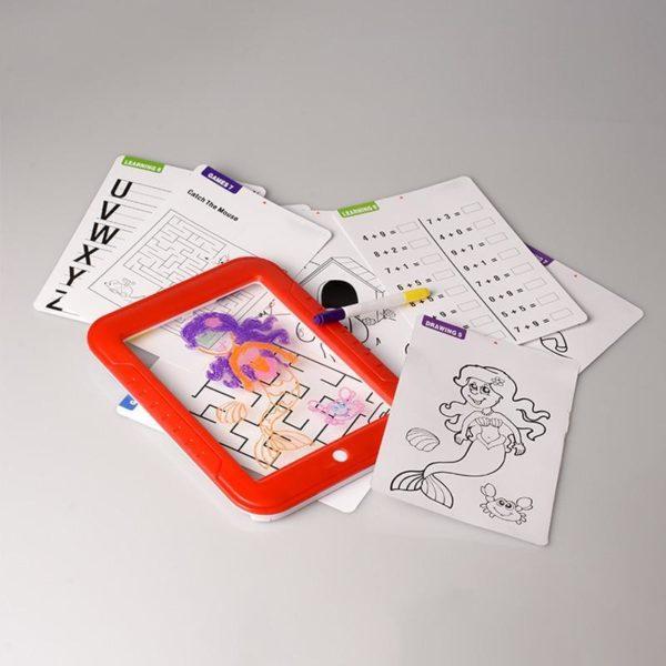 2 HTB1UlviXvc3T1VjSZLeq6zZsVXaO Tablette à Dessin LED Éducatif Pour Enfants