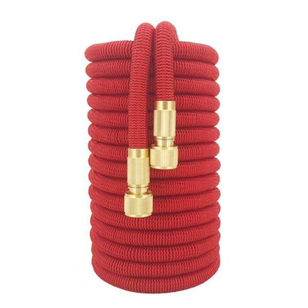 Magic Hose : Flexible et Tuyau Arrosage Extensible Avec Pistolet D'arrosage - 25ft / Rouge / Tuyau D'arrosage