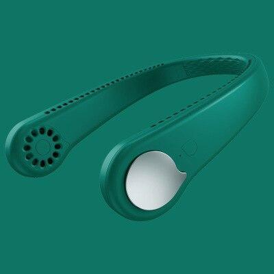 Éventail Paresseux Suspendu : USB Rechargeable Avec 48 Évents Environnants - Vert