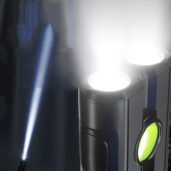 2dans1Lampedepocheavecpowerbank 2 2 Dans 1 Lampe De Poche Avec Banque De Puissance: Il Recharger Votre Téléphone Et Aidera Vous Dans L'obscurité