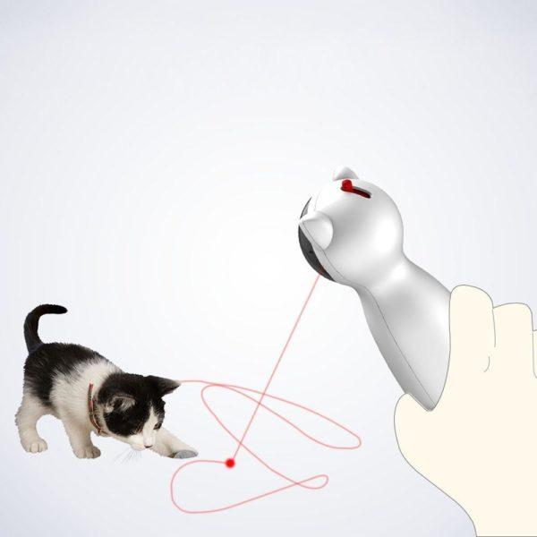3 Chat interactif jouet LED Laser dr le jouet Auto rotation chat exercice formation divertissant jouet multi Jouet Laser Interactif Pour Chat: Allumez-Le Et Regardez Votre Chat Aller À La Chasse Au Rayon Laser