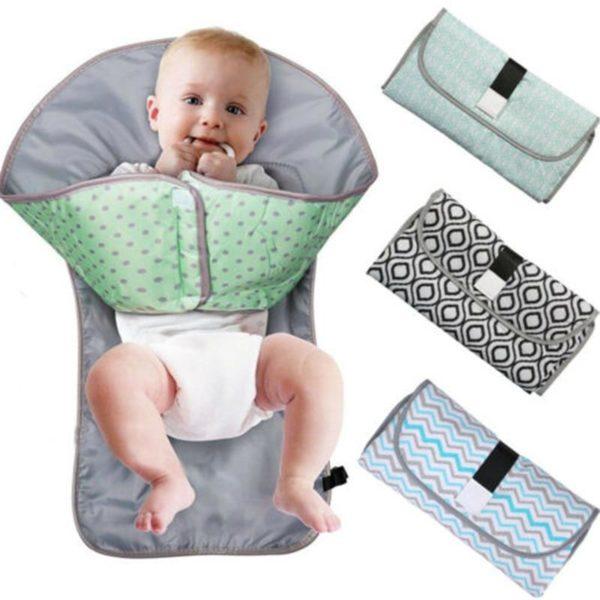 3 in 1 Multifunctional Portable Infant Baby Foldable Urine Mat Waterproof Nappy Bag Diaper Changing Cover Matelas à Langer Bébé : Facile à Laver et à Entretenir