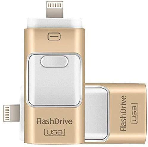 Clé Usb 3 En 1 Pour Smartphone: Sauvegardez Et Restaurez Votre Liste De Contacts - 8 GO / d'or