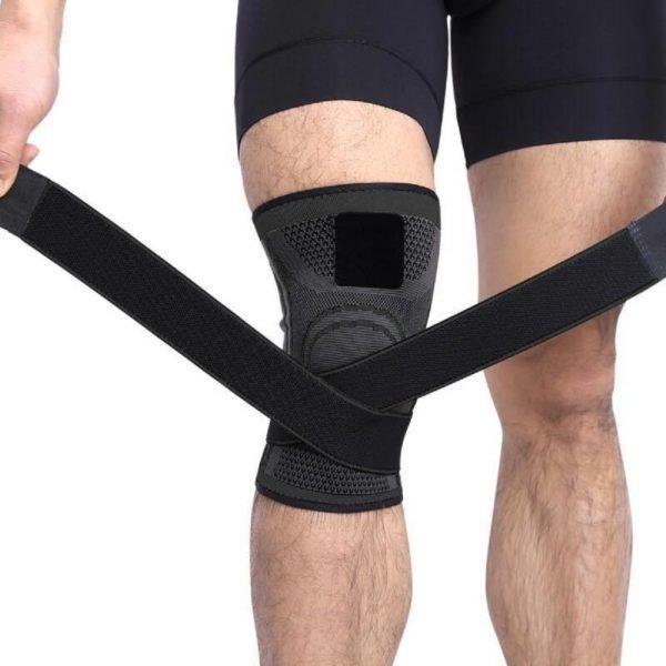 Support Pour Genoux 3D : Fournit de la Stabilité Pendant le Sport en Cas de Blessure - Noir / S (30-35CM)