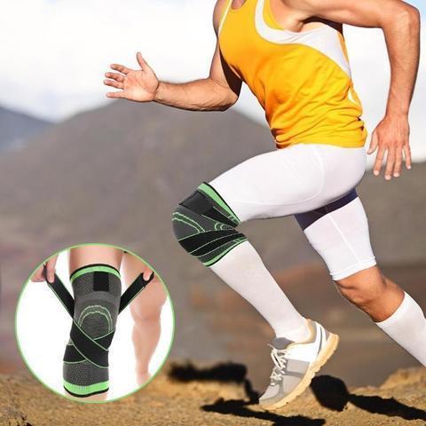 Support Pour Genoux 3D : Fournit de la Stabilité Pendant le Sport en Cas de Blessure - Vert / S (30-35CM)