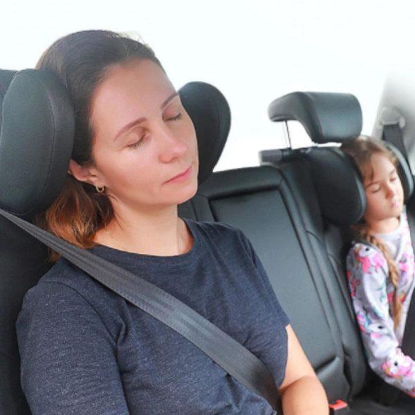 Oreiller Appui-tête : Un Meilleur Confort Quand Ils S'endorment Dans La Voiture - Noire
