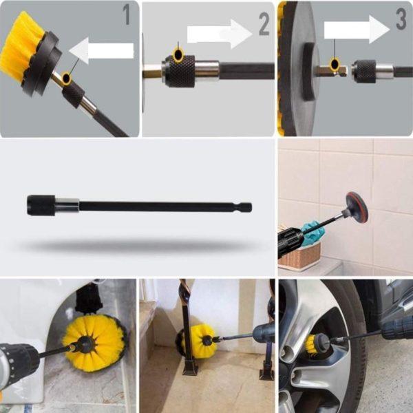 3 ENSE 2 Multi-surfaces Perceuse Électrique Brosse De Nettoyage : Kit de Brosse de 14 et 22pcs