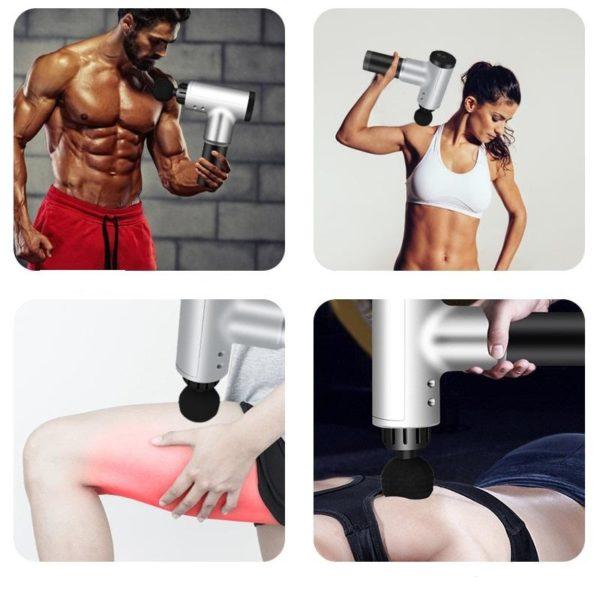 Pistolet De Massage Professionnel : Soulager La Raideur Et Les Douleurs Musculaires - Noir