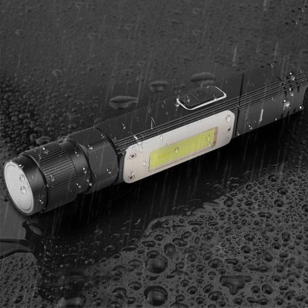4 Lampe en COB Ultra brillante lumi re en COB tanche aimant de queue de torche Rechargeable Lampe De Poche Multifonctionnelle: Vous Permet D'explorer Les Zones Très Sombres