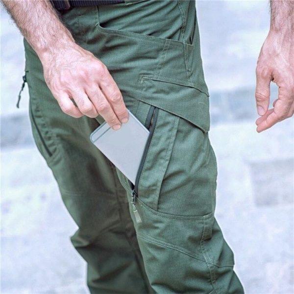 Pantalon Tactique: Pantalons De Bonne Qualité Et Imperméables Pour Usages Multiples - Vert / S(76-81 CM)