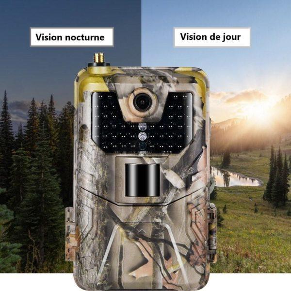 4 20MP 1080P 2G SMS MMS SMTP cam ra de sentier de la faune pi ges Photo Camera Chasse : Obtenez Des Photos et Vidéos Directement Sur Votre Portable
