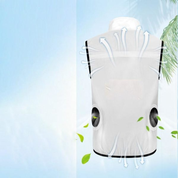5 PARATAGO t ventilateur gilet de refroidissement hommes femmes climatisation Cool manteau ext rieur Protection solaire veste Gilet De Refroidissement Par Ventilateur Pour Hommes: L'été N'est Plus Chaud