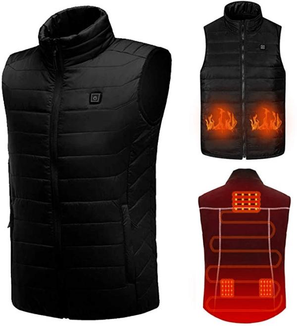 Confortable Veste Chauffante Électrique Pour Hommes et Femmes - Noir / S (63 Cm) / Gilet simple