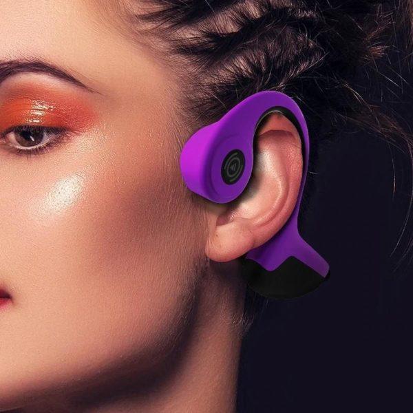 Écouteurs À Conduction Osseuse Sans Fil: Arrêtez Le Câbles Suspendu Partout - Violet