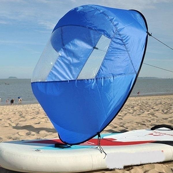 Mini Voile Portable : Que Vous Soyez Sur Un Kayak Ou Même Un Paddle - Bleu