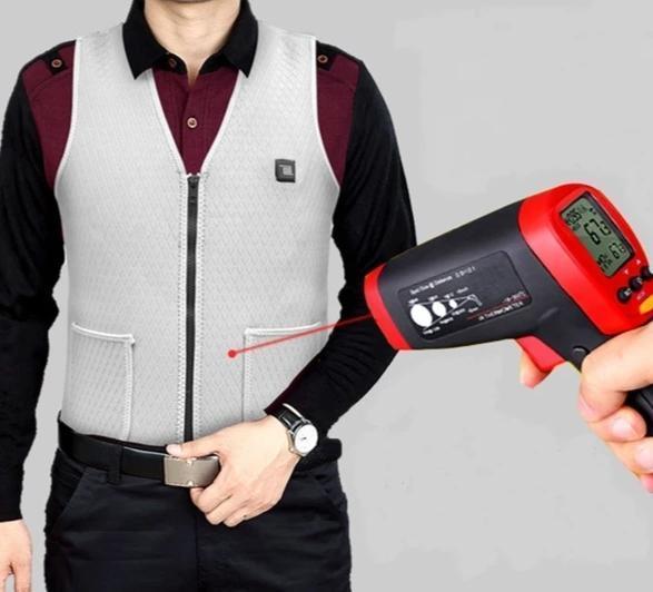 Électrique USB Gilet de Chauffage Pour Hommes et Femmes - Gris / M(60 cm) / Gilet simple