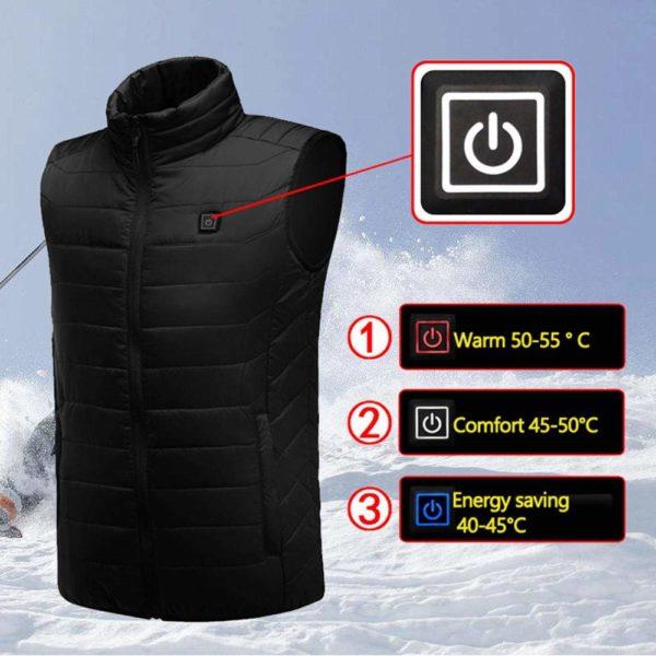61VlTotxaYL. SL1000 min Confortable Veste Chauffante Électrique Pour Hommes et Femmes